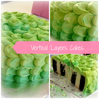 Vertical layers cake tutorial