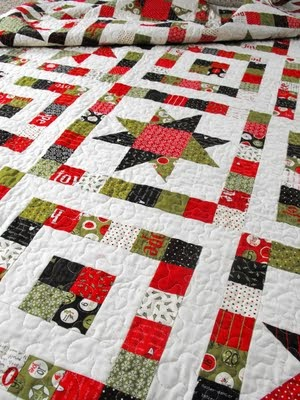 Free Quilt Patterns Moda Fabrics : Quilt Inspiration: Free pattern day ! Christmas - Part 3