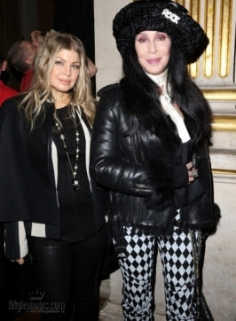 Black Eyed Peas singer Fergie and Cher
