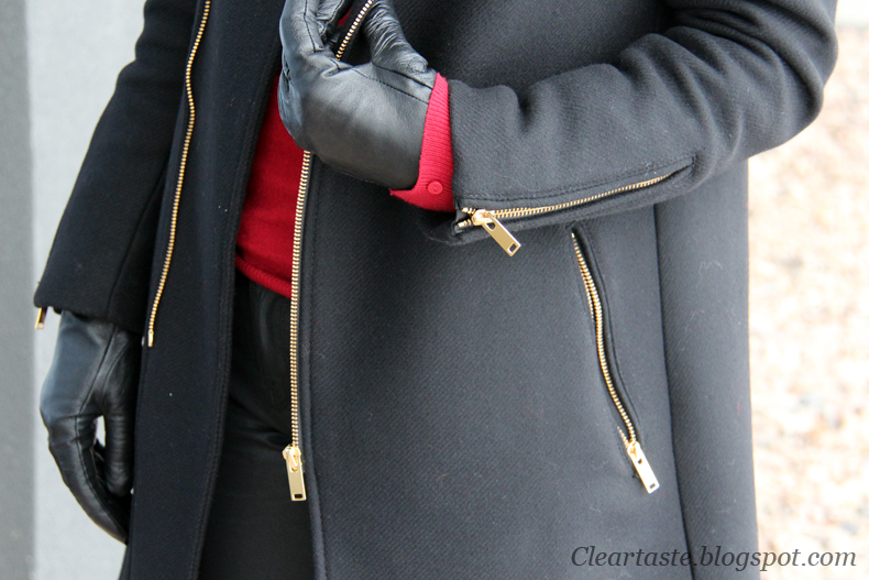 zip biker coat zara
