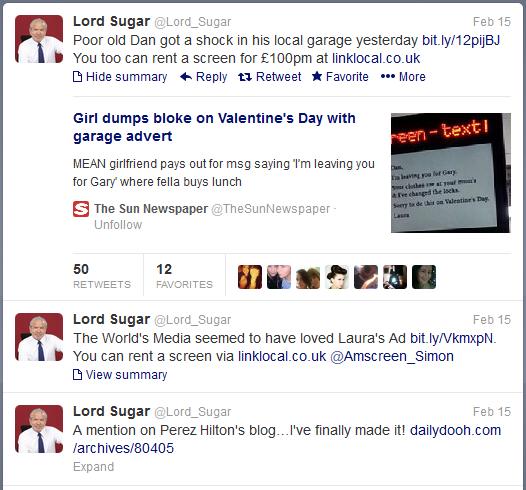 Lord Alan Sugar - Twitter
