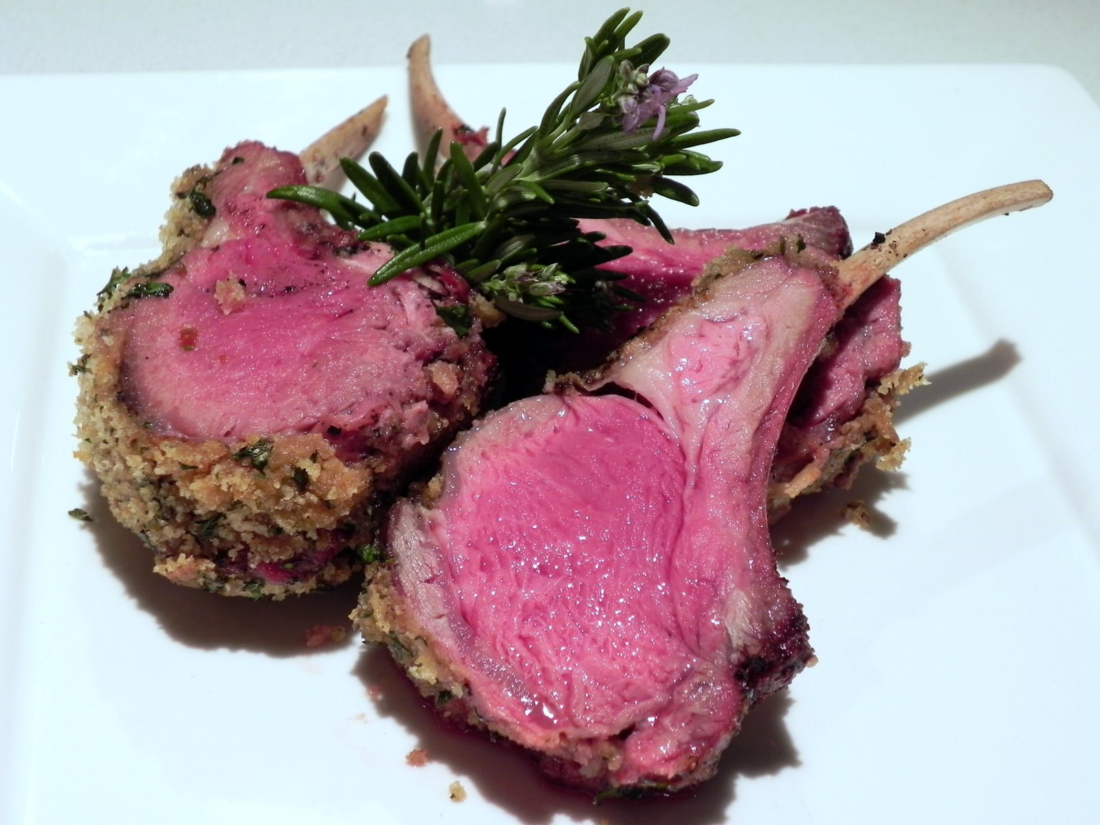 Lexi's Kitchen: MUSTARD AND HERB-CRUSTED RACK OF LAMB