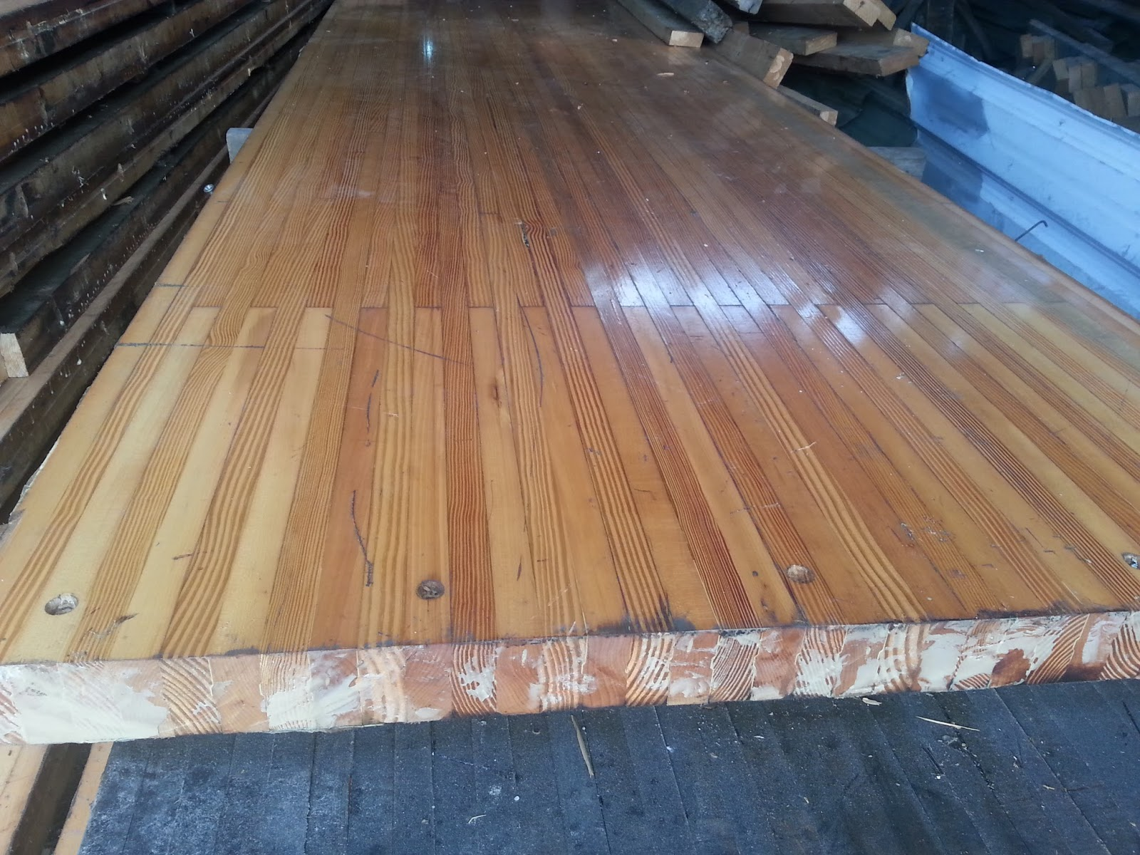 Imported used bowling alley floor board solid pine wood