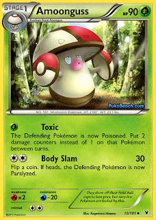 Amoonguss Pokemon Card Noble Victories Set