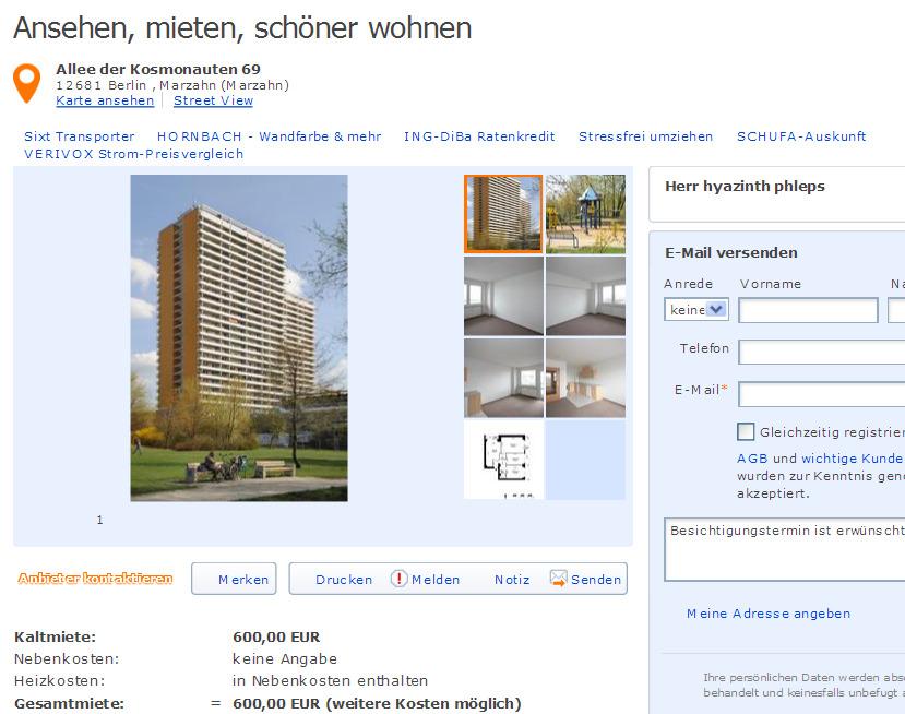 Wohnung Mieten Bei Degewo