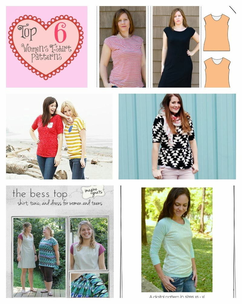 Women's T-shirt Sewing Patterns