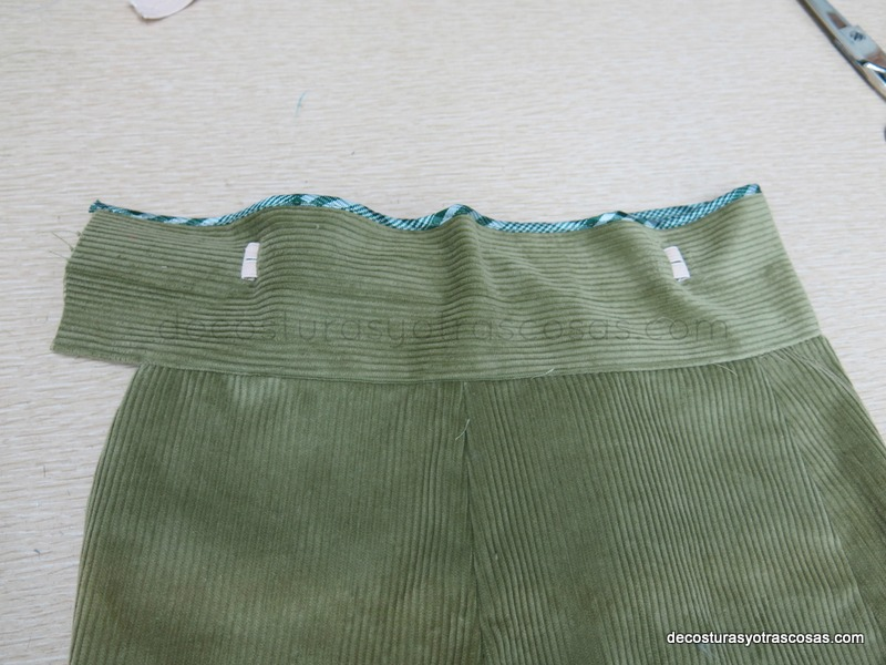cintura con elástico regulador de cintura
