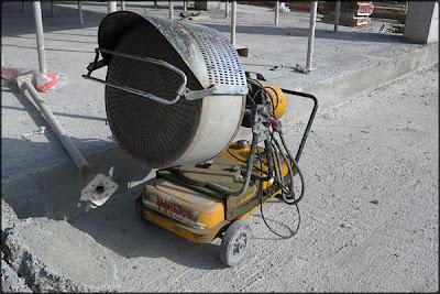 calentador de obra