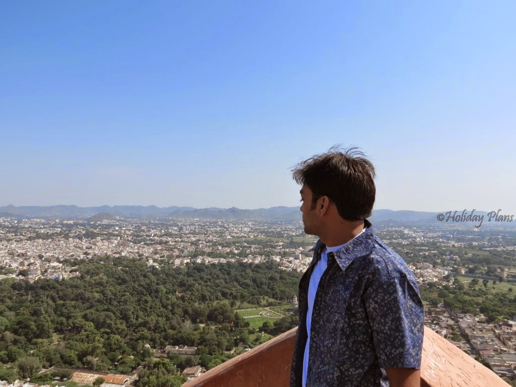 Hill top view of Udaipur Rajasthan