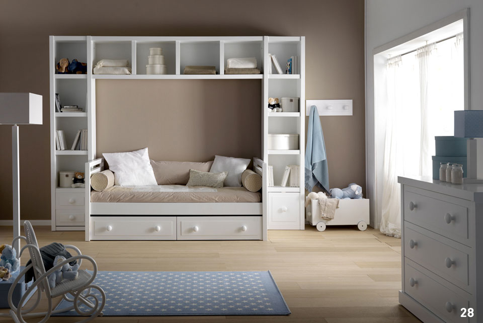 Habitaciones infantiles color beige halia decoraci n - Mobile a ponte per camera da letto ...