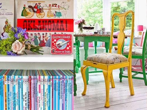 bright coloured furniture