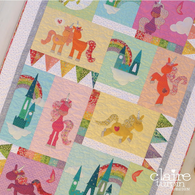Unicornia Quilt Pattern by Claire Turpin Designs