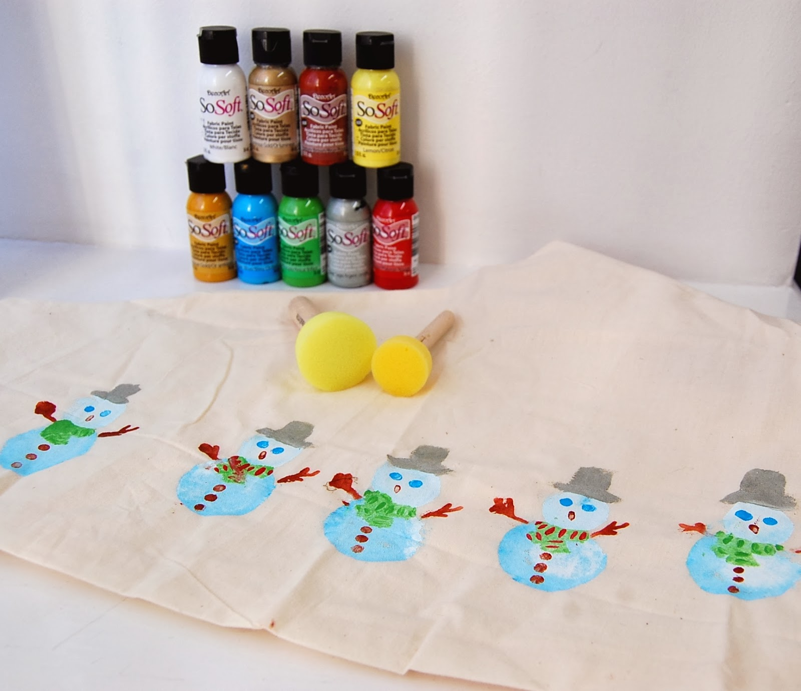 Christmas Fabric Craft Ideas Part - 42: Easy Fabric Painting Idea - Christmas/Xmas Snowman/Snowmen Stocking Sock  Boot