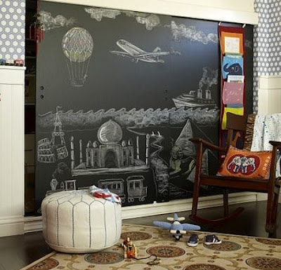 Home Christmas Decoration Chalkboard Paint Ideas For
