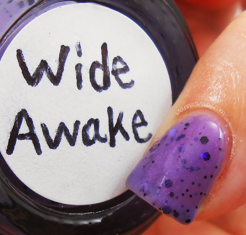 Glam Glaze wide awake, a thermal purple nail polish