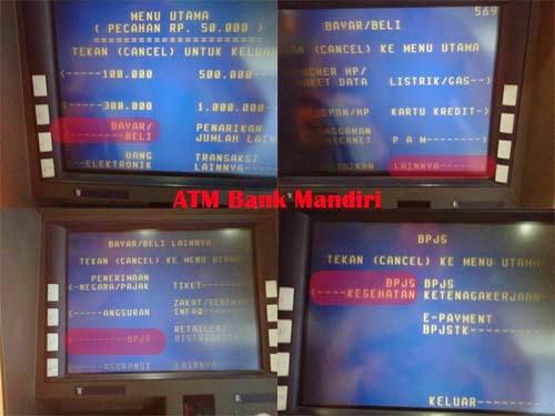 bayar BPJS via ATM Bank Mandiri 1