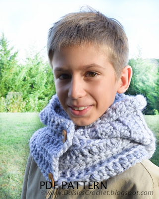 crochet hood pattern crochet cowl boy scarf 1