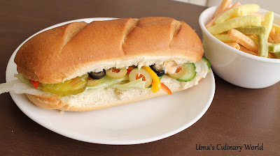 Veggie Sub Sandwich