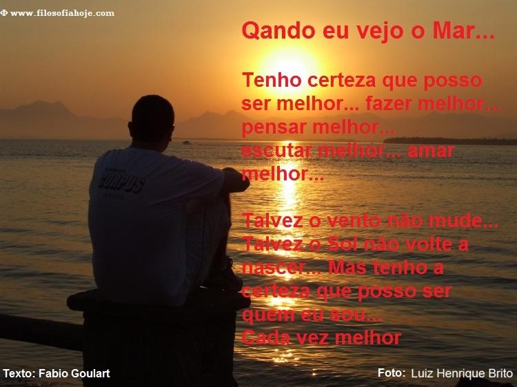 homem pessoa olhando o mar fim de tarde belo bonito poema