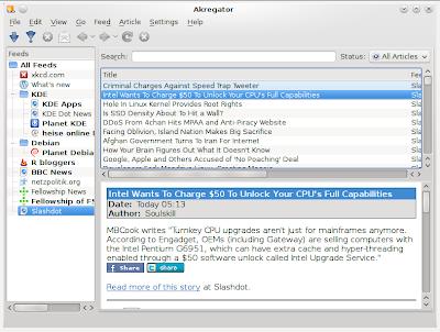 akregator feed reader