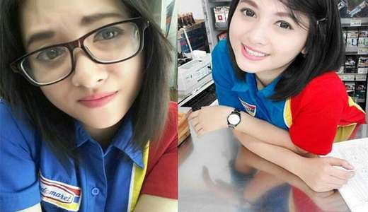 Ini Dia Siti Rohmah Kasir Indomaret Paling cantik