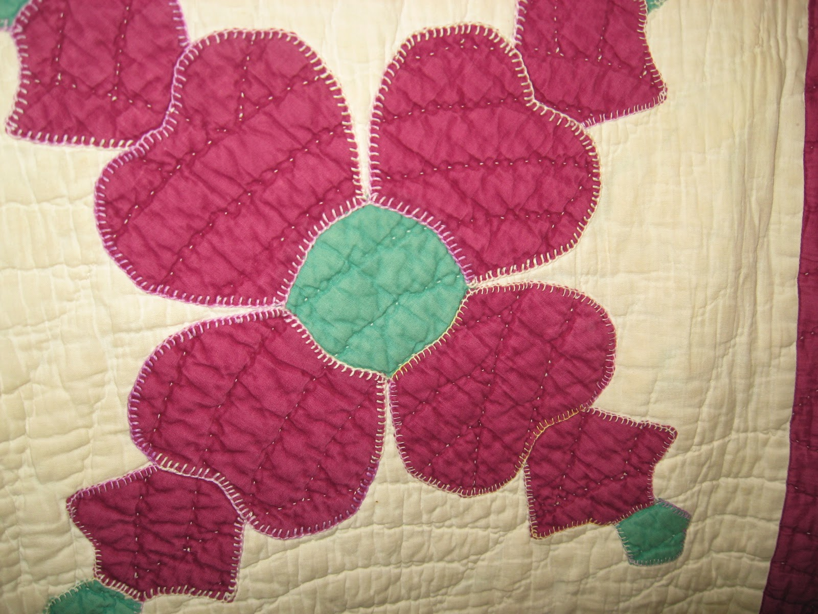 Large applique flower quilt