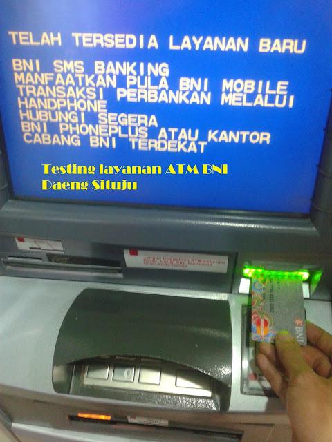 Daeng Situju in ATM BNI