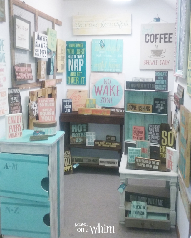 A Craft Show and Freshening Up My Booth with New Signs   Denise on a Whim
