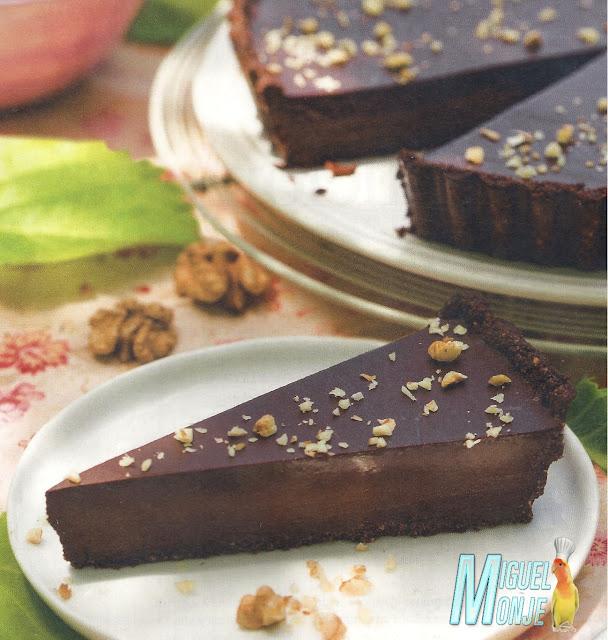 Tarta de chocolate y galleta