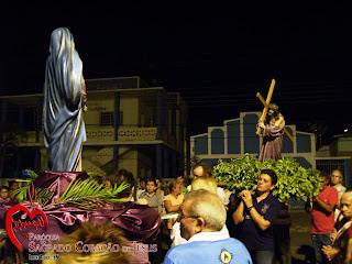 Paróquia de Almino Afonso realiza a procissão do encontro