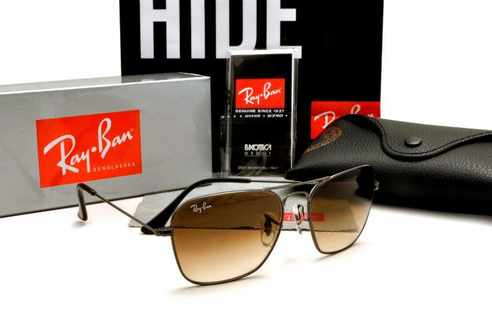 Ray Ban Glasses Frame Malaysia : Ray Ban - Caravan RB3415 Gunmetal Frame, Brown Gradient ...