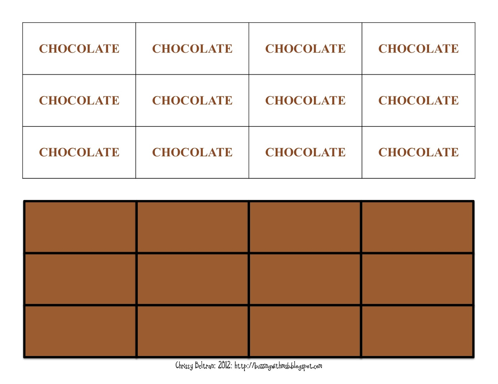 Free Resources: Hershey's Fraction Book: Chocolate Pieces