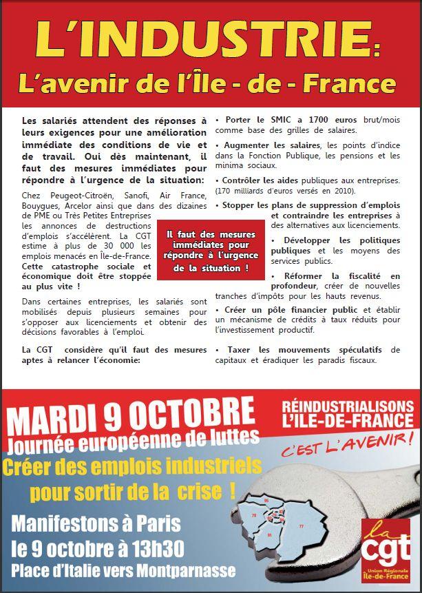 Le 9 octobre pour la d fense du pouvoir d 39 achat et de l for Chambre de commerce et d industrie de paris recrutement