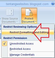 agar file dokumen ms word tidak bisa di edit