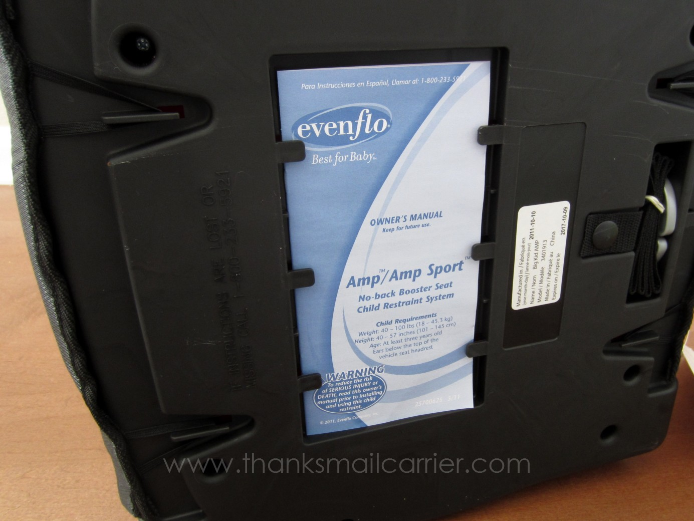 thanks mail carrier evenflo big kid amp booster seat review giveaway. Black Bedroom Furniture Sets. Home Design Ideas