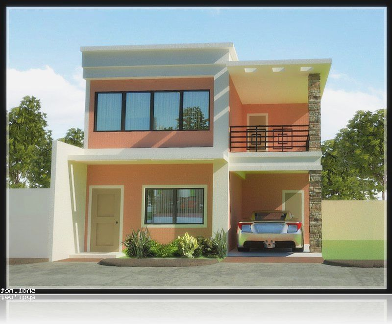 30 beautiful 2 storey house photos bahay ofw Simple house designs and plans