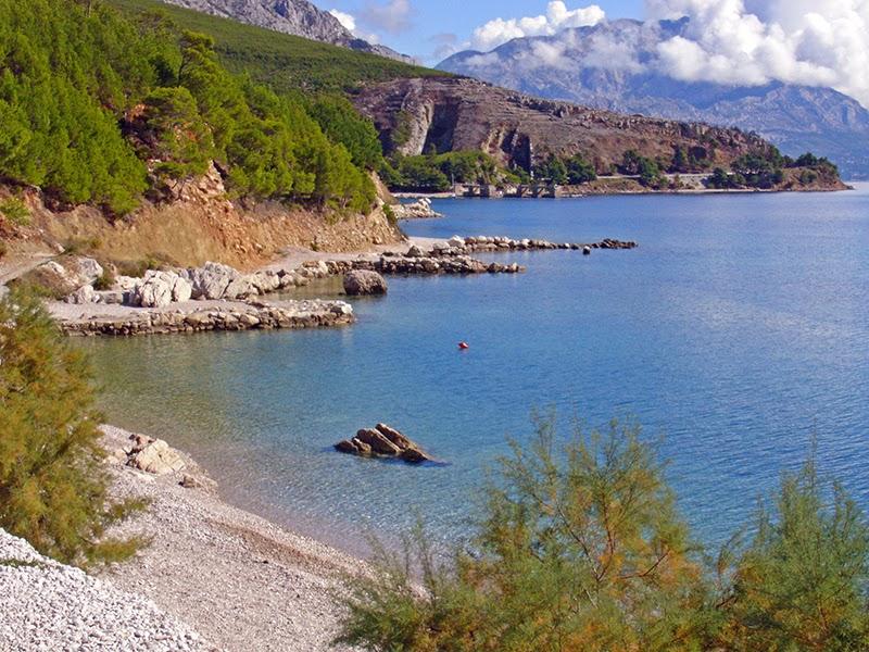 Photo de plage sur la riviera Makarska en Croatie