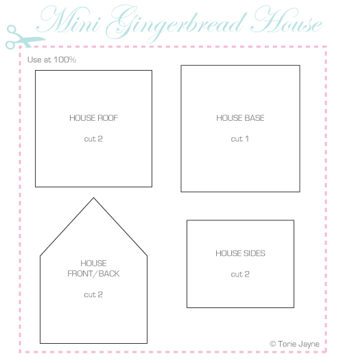 Mini Gingerbread House plans | Gingerbread | Pinterest