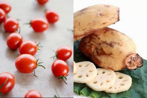 Sinh tố cà chua củ sen 1