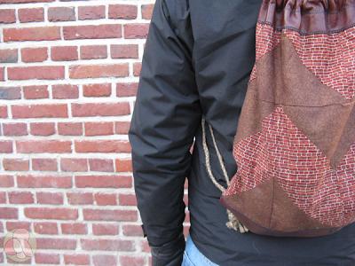 mochila de patchwork