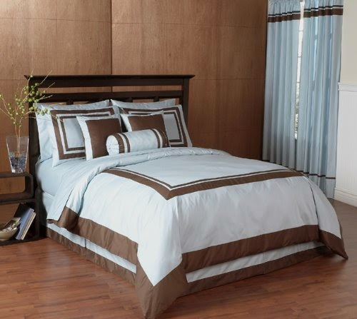 Dormitorios en marr n chocolate y azul dormitorios for Chocolate brown and blue bedroom ideas