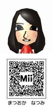松岡菜摘(HKT48)のMii QRコード トモダチコレクション新生活
