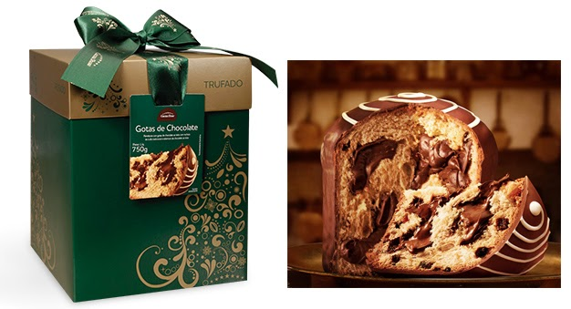 Cacau Show Panettone Trufado Tradicional Gotas de chocolate