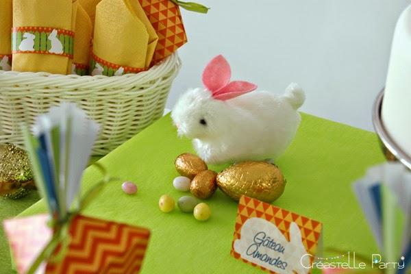lapin sauteur décoratif pour la Sweet table lapin de Pâques