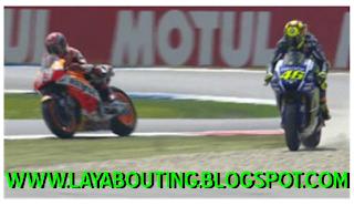 Insiden Rossi Dengan Marquez Di MotoGp Assen 2015