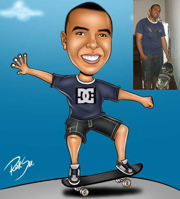 desenho de skate