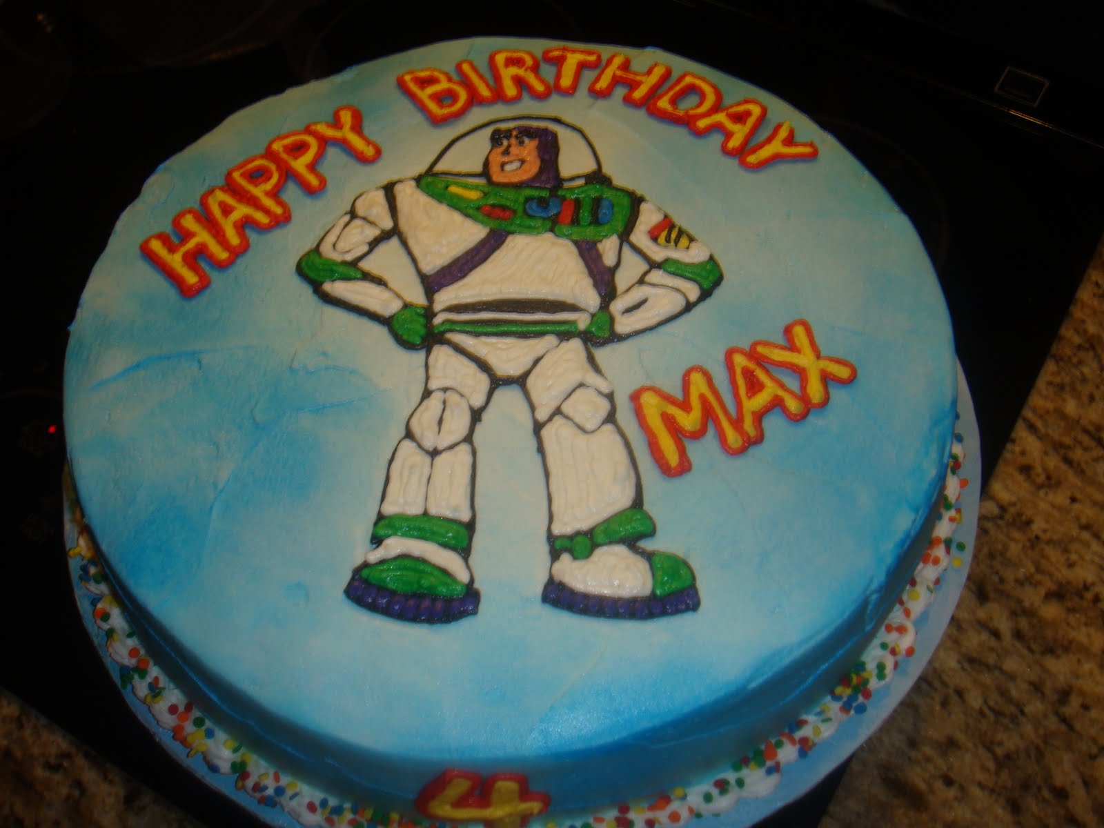 Vickis Sweet Treats Maxs Buzz Lightyear Themed 4th Birthday Cake