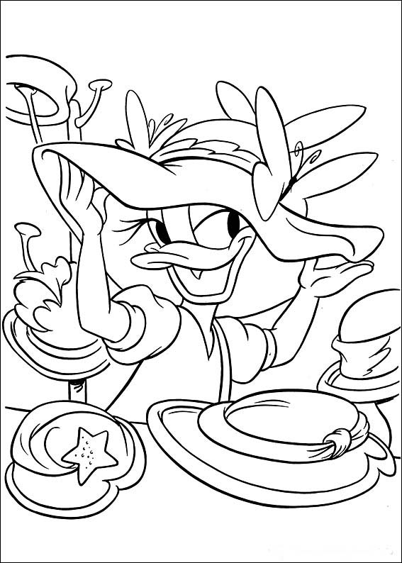 Cartoons Coloring Pages Donald and Daisy Duck Coloring Pages