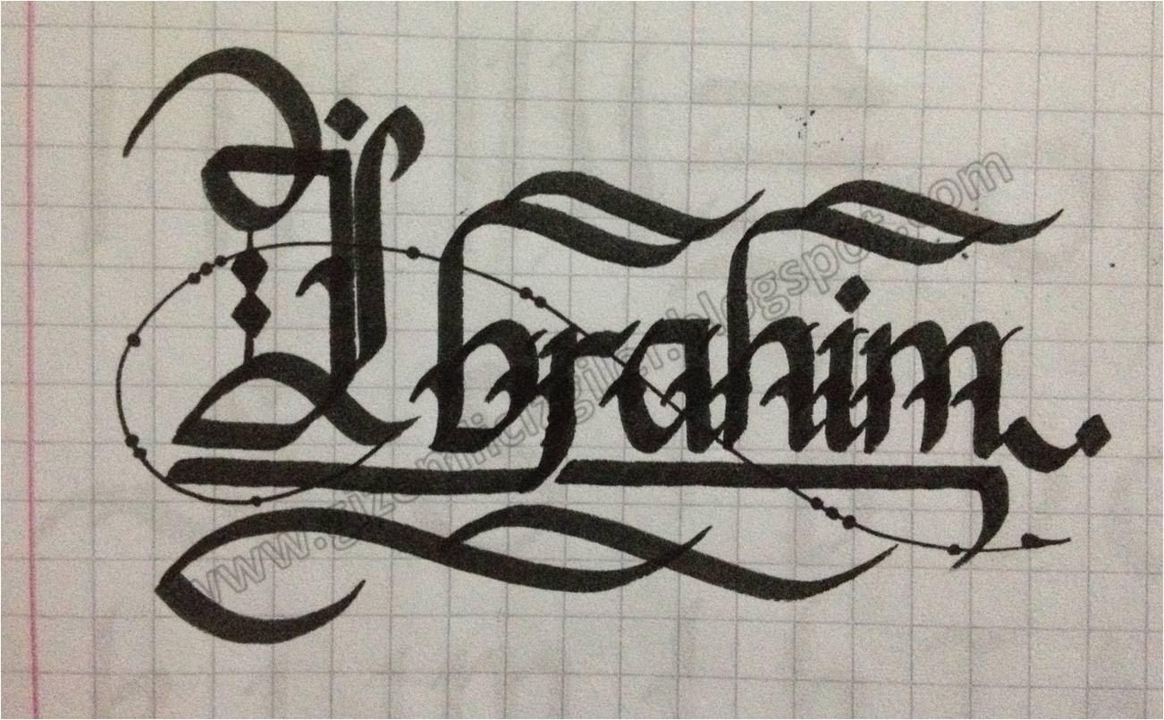 Karakalem şekilli isim yazma