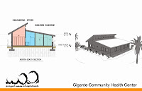 Architectural drawings of the future Gigante Community Health Center